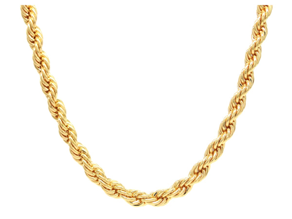 Gold thick rope necklace MAIN