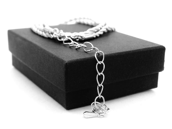 Sterling silver thin rope necklace GIFT BOX