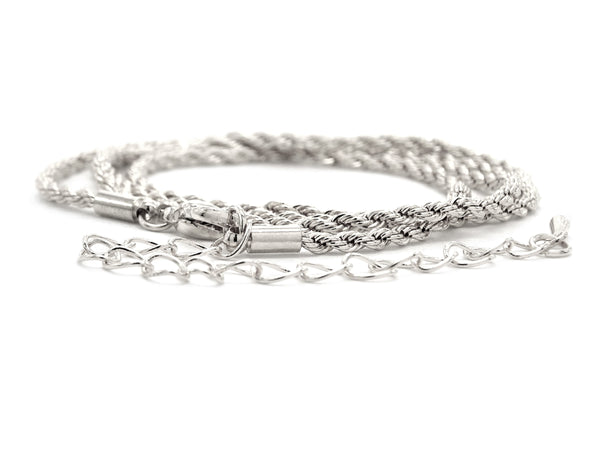 Sterling silver thin rope necklace DISPLAY