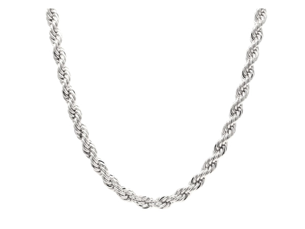 Sterling silver thin rope necklace MAIN
