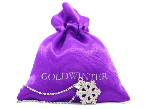 White gold snowflake necklace GIFT BAG