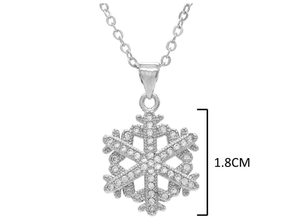 White gold snowflake necklace MEASUREMENT