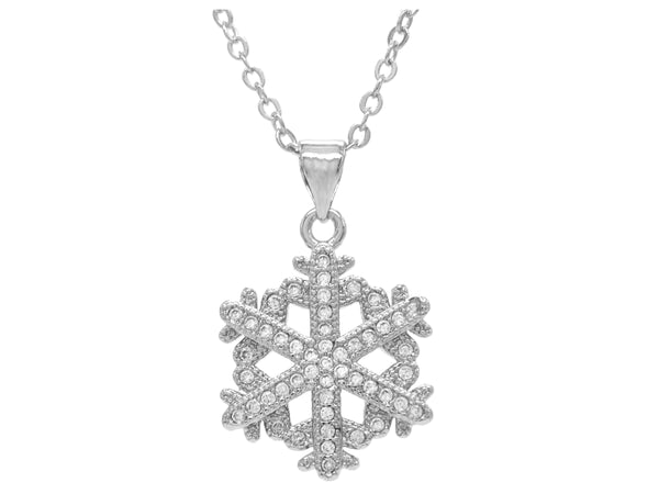 White gold snowflake necklace MAIN