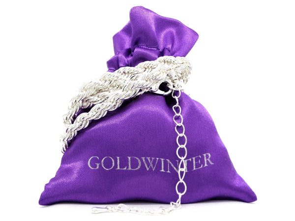 Sterling silver thick rope necklace GIFT BAG