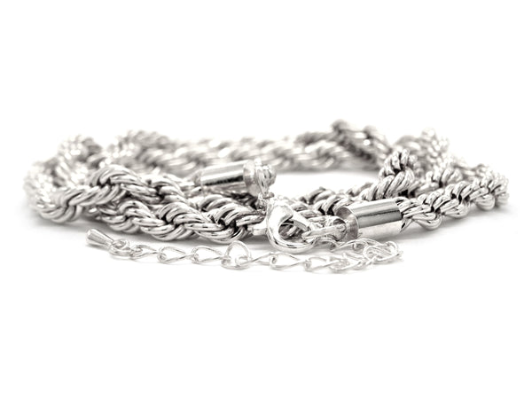 Sterling silver thick rope necklace DISPLAY