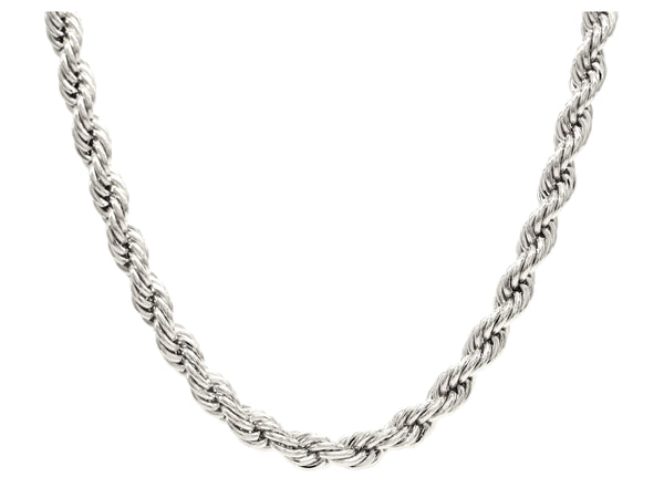 Sterling silver thick rope necklace MAIN
