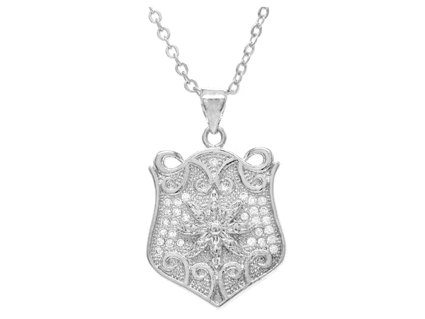 White gold drop pendant necklace MAIN