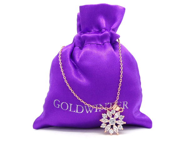 Rose gold sparkly white gems necklace GIFT BAG