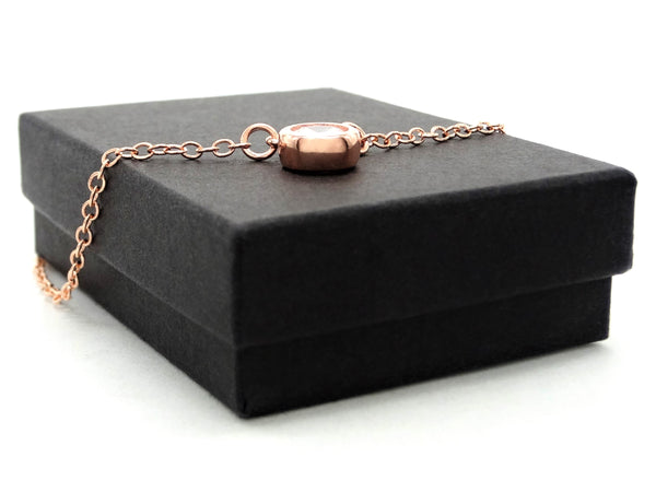 Rose gold white gem choker necklace GIFT BOX