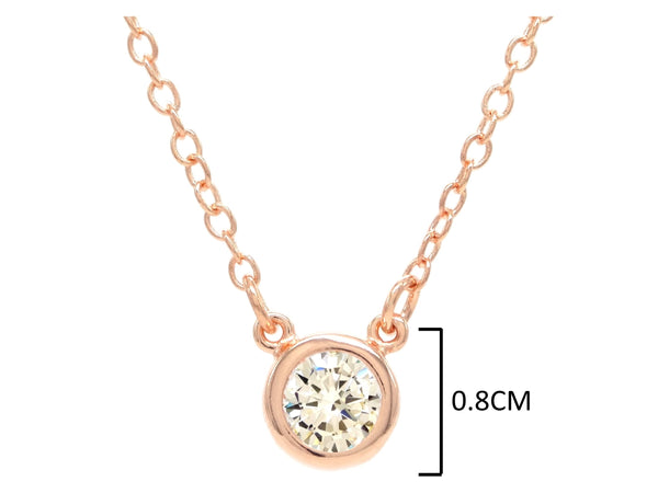 Rose gold white gem choker necklace MEASUREMENT