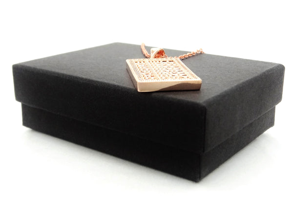 Rose gold abacus necklace GIFT BOX