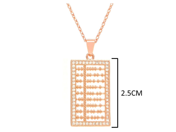 Rose gold abacus necklace MEASUREMENT