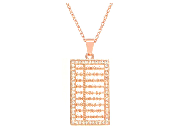 Rose gold abacus necklace MAIN