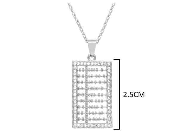White gold abacus necklace MEASUREMENT