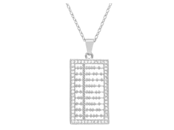 White gold abacus necklace MAIN