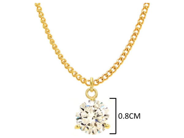 Clear gem gold drop necklace MEASUREMENT