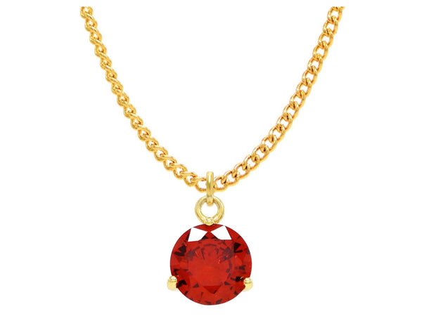 Red gemstone gold necklace MAIN