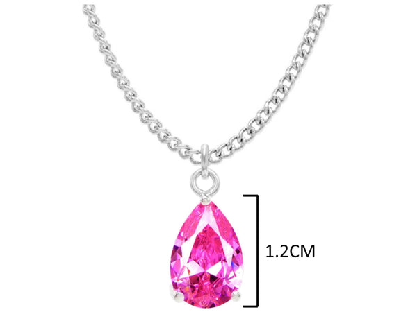 Pink raindrop white gold necklace MEASUREMENT