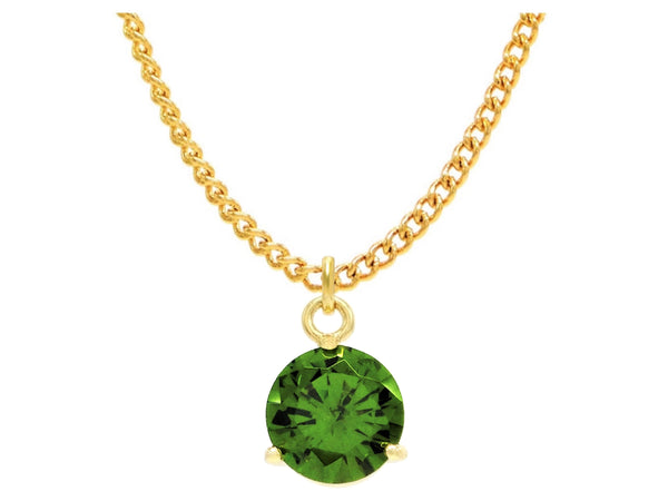 Green gem gold necklace MAIN