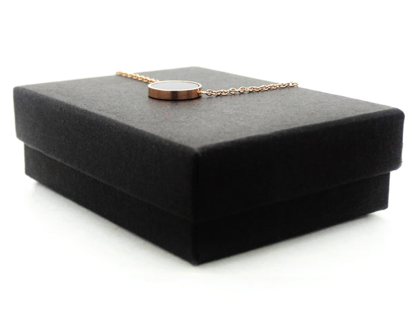 Rose gold black moonstone choker necklace GIFT BOX