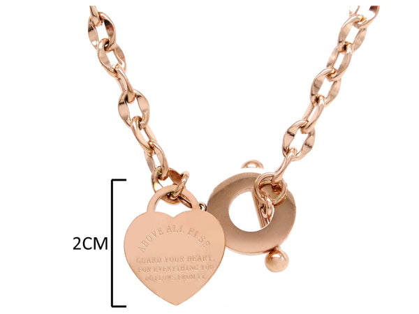Rose gold proverbs 4:23 necklace MEASUREMENT