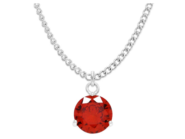 Red gem white gold necklace MAIN