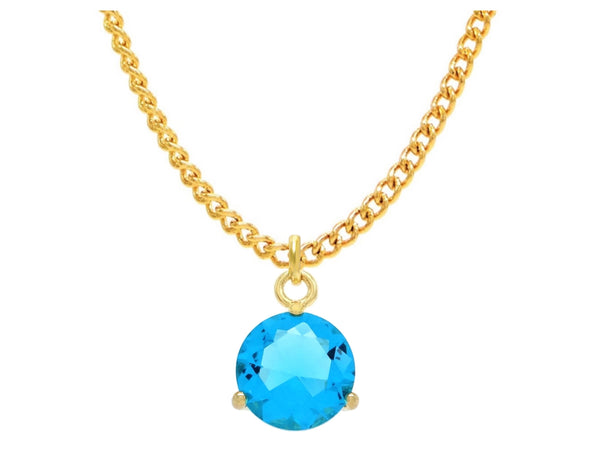 Blue gem gold necklace MAIN
