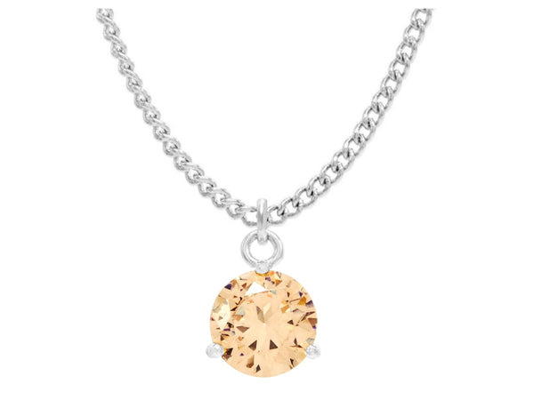 Champagne gem white gold necklace MAIN