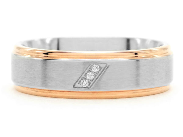 Stainless steel rose gold band ring MAIN