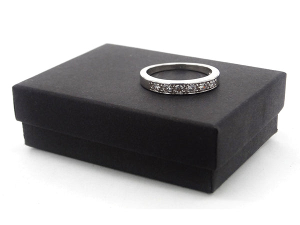 Silver classic gem ring GIFT BOX