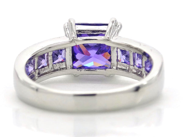 Purple princess silver ring BACK