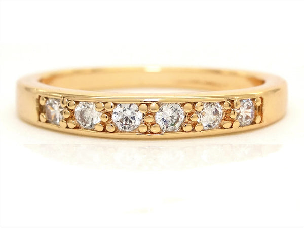 Gold classic gem ring