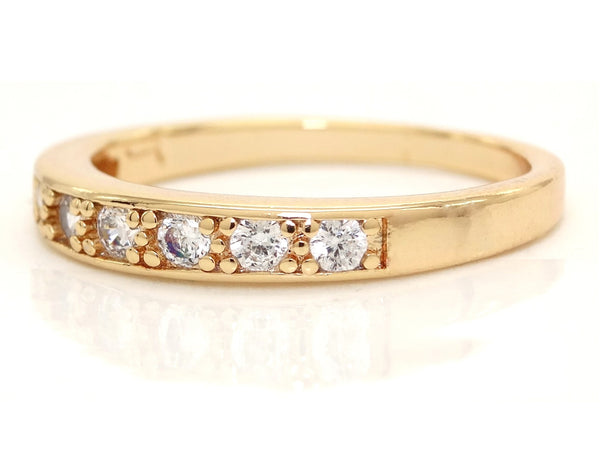 Gold classic gem ring LEFT SIDE