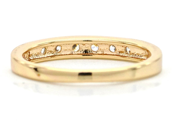 Gold classic gem ring BACK