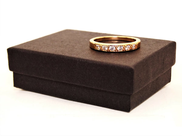 Gold classic gem ring GIFT BOX