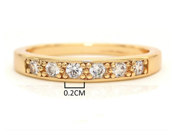 Gold classic gem ring MEASUREMENT