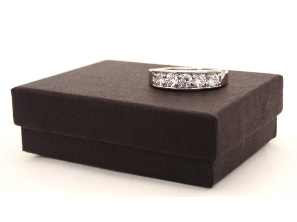 Thick silver gemstone ring GIFT BOX