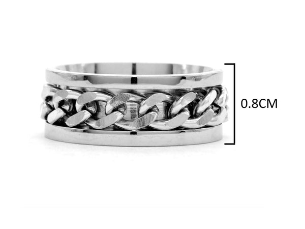 Stainless steel chain ring MEASUREMENT