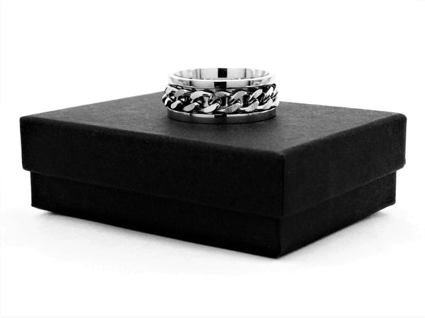 Stainless steel chain ring GIFT BOX