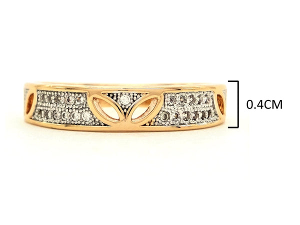 Gold prestige band ring MEASUREMENT