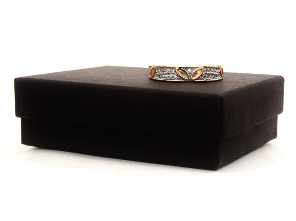 Gold prestige band ring GIFT BOX