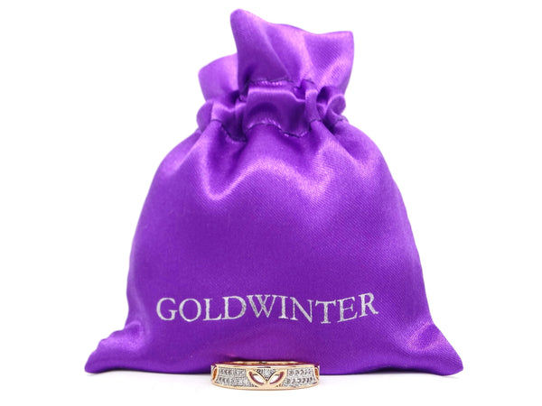 Gold prestige band ring GIFT BAG