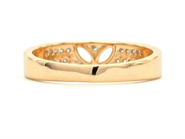 Gold prestige band ring BACK