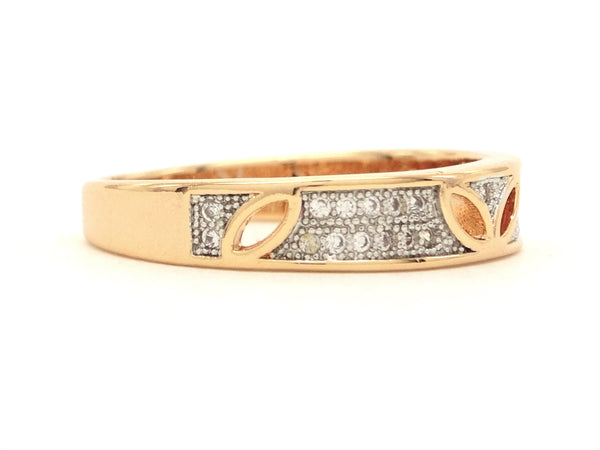 Gold prestige band ring SIDE