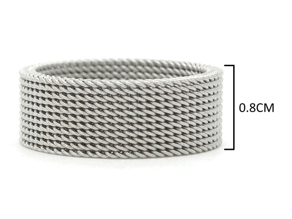 Steel mesh band ring MEASUREMENT