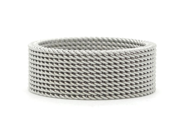 Steel mesh band ring MAIN