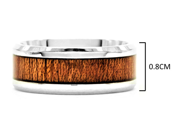 Stainless steel mahogany ring MEASUREMENT