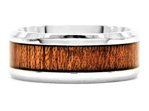 Stainless steel mahogany ring MAIN