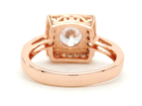 Rose gold round gems ring BACK