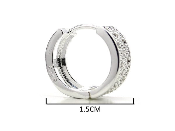 Sterling silver thick hoop earrings MEASUREMENT